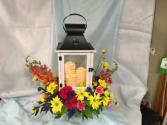 Tears to Heaven Lantern with fresh flowers