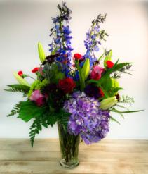 Technicolor Vase Arrangement