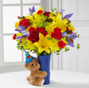 Teddy Bear Birthday! Birthday Bouquet in Pensacola, FL | Cordova Flowers and Gifts