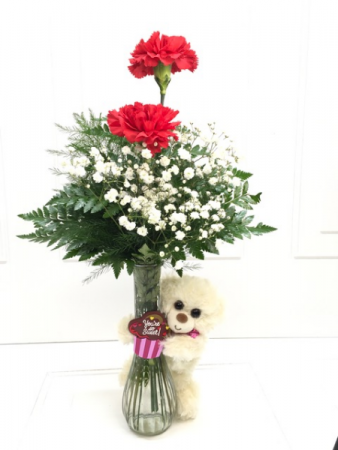 Teddy Bear Carnation Vase