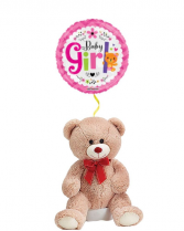 Teddy Bear for Baby Girl with Mylar