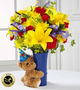 Teddy Bear HBD  in Kitchener, ON | KITCHENER ONTARIO FLORIST