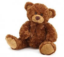 Teddy Bear Love Bundle teddy bear, 1 rose vase & 2 mylar balloons