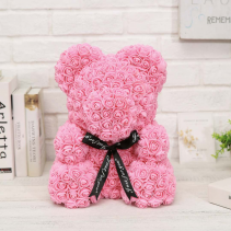 "Teddy Bear Made Of Roses 14"" Pink"