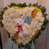 Teddy Bear Memories Heart Easel