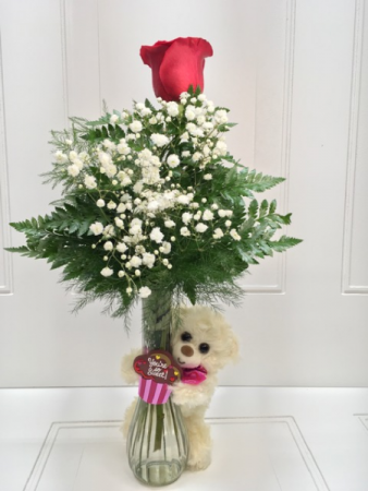 Teddy Bear rose vase