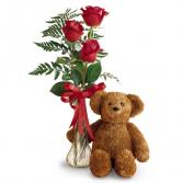 Teddy Bear & Roses