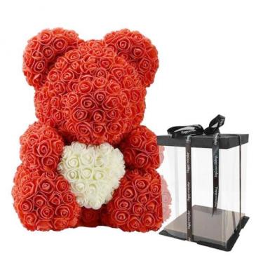 Teddy Rose Bear - Red