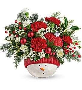 Tel Snowman Ornament Arrangement