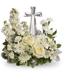 Telaflora Divine Peace Arrangement Sympathy Arrangment