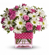 Telaflora Polka Dots and Posies Vase Arrangment