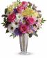 Telaflora Polka Dots and Posies Vase Arrangment