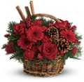 Berries & Spice Christmas Basket with Cinnamon
