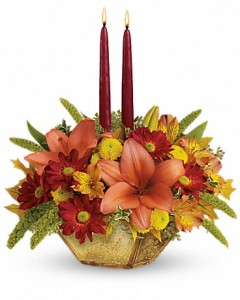 Teleflora Autumn Reflections Centerpiece in Cambridge, ON | MY FLOWER SHOP