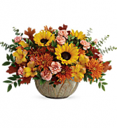 Teleflora Autumn Sunbeam centerpiece Fall
