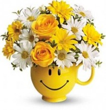 Teleflora Be Happy Bouquet with Roses