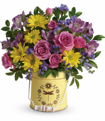 Teleflora Blooming Pail Bouquet
