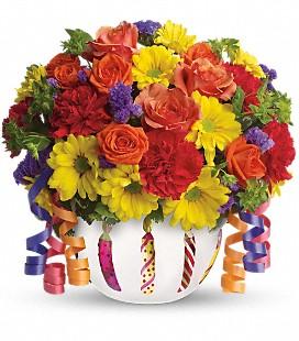 Teleflora Brillant Birthday Blossoms  in Portage, IN   Flower Power Designs