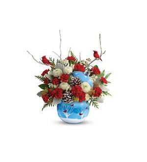 Teleflora Cardinals in the Snow Bouquet