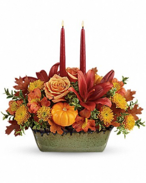 Teleflora Country Oven Centerpeice   in Gilbert, AZ | Country Blossom Florist Inc. & Boutique