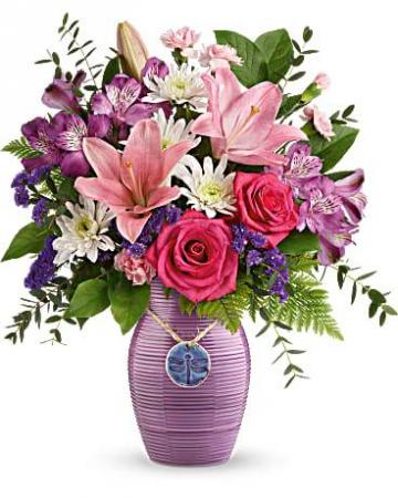 Teleflora Dragonfly Vase Mother's Day
