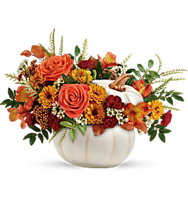 Teleflora Enchanted Harvest Bouquet Fall in Florenceville Bristol, NB | JT's Flowers