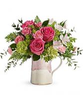 Teleflora Heart of Stone Bouquet Fresh Arrangement