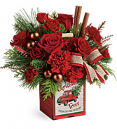 Teleflora Merry Vintage Christmas T19X600 Bouquet
