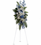 Teleflora Ocean Breeze Standing Spray Fresh Floral Standing Spray