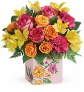 Teleflora Painted Blossom Bouquet