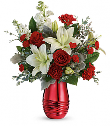 Teleflora Radiantly Rouge Bouquet