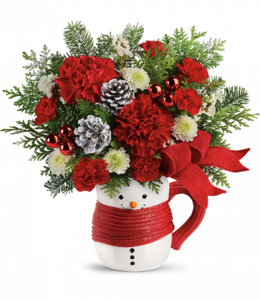 Teleflora Send a Hug Snowman Mug