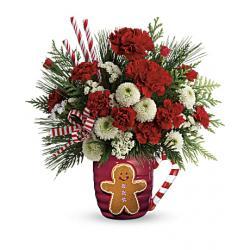 Teleflora send a hug winter sips bouquet