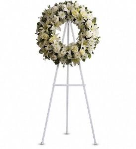 Teleflora Serenity Wreath Standing Wreath Spray