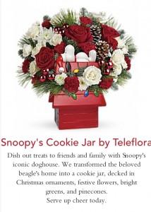 Teleflora Snoopy Cookie Jar Arrangement Christmas