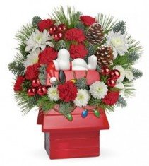 Teleflora® Snoopy's Cookie Jar Bouquet Holiday