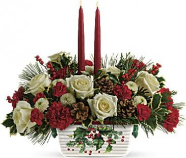 Teleflora Snowy Daydream Bouquet Centerpiece
