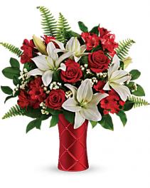 teleflora Sweetest Satin Bouqet  Keepsake vase