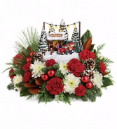 Teleflora Thomas Kinkade's Family Tree Bouquet Christmas