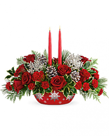 Teleflora Winter's Eve Centerpiece Christmas Arrangement