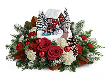 Teleflora Christmas 2020 Teleflora's 2018 Thomas Kinkade Snowfall Dreams Christmas Fresh