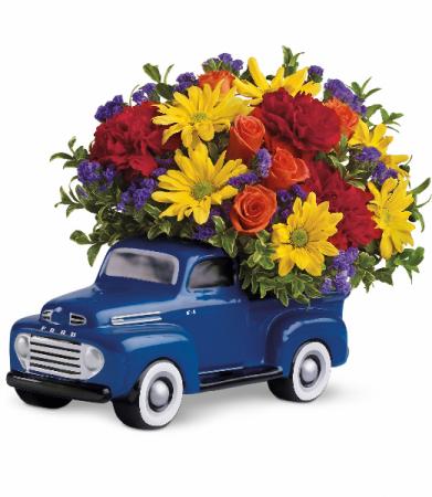 Teleflora's '48 Ford Pickup Bouquet Fresh Arrangement