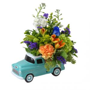 Teleflora's '55 Vintage Chevy Pickup ceramic replica truck in Granville, NY | The Florist at Mandy's Spring