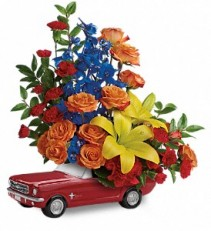 Teleflora's '65 Ford Mustang Novalty Arrangement