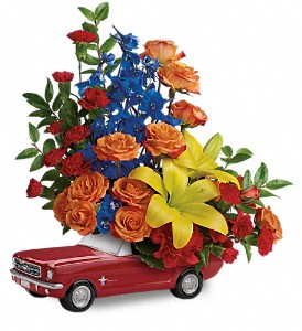 Teleflora's '65 Ford Mustang Novalty Arrangement in Auburndale, FL | The House of Flowers