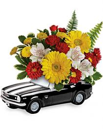Teleflora's '67 Chevy Camaro Bouquet Arrangement