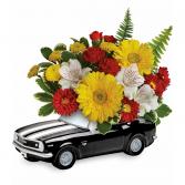 Teleflora's '67 Chevy Camaro Bouquet Fresh Arrangement