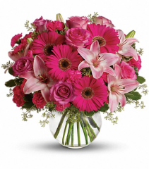 A Little Pink Me Up Vase Bouquet