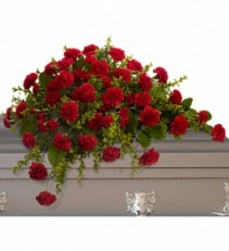 Teleflora's Adoration Casket Spray Sympathy Arrangement