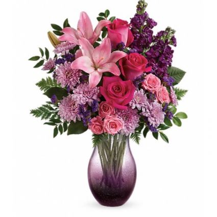 Teleflora's all eyes on you Bouquet Hand-Blown Bubble-Glass
